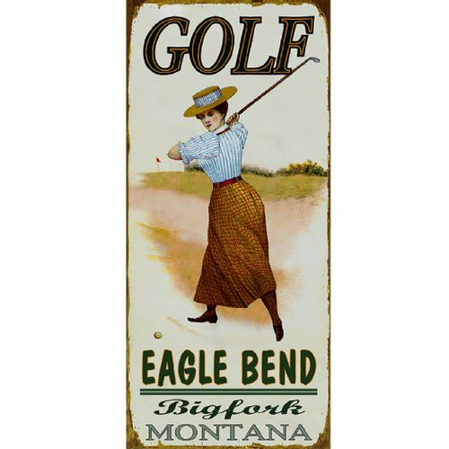 Golf Course (Female) Wood or Metal Personalized Sign
