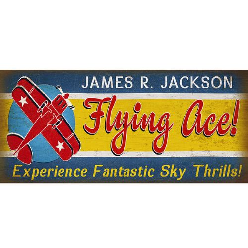 Flying Ace Personalized Sign