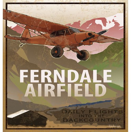 Backcountry Flights Vintage Style Personalized Sign