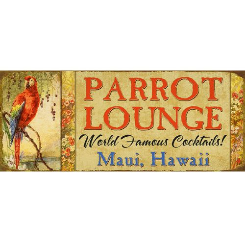 Parrot Lounge Personalized Wood or Metal Bar Sign