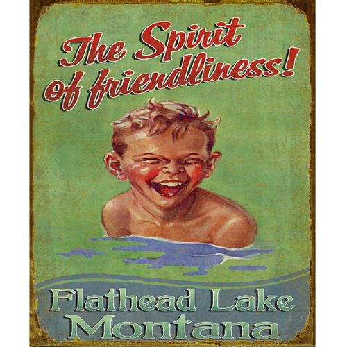 The Spirit of Friendliness Personalized Wood or Metal Sign