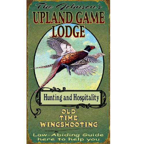 Game Lodge Wood or Metal Personalized Sign
