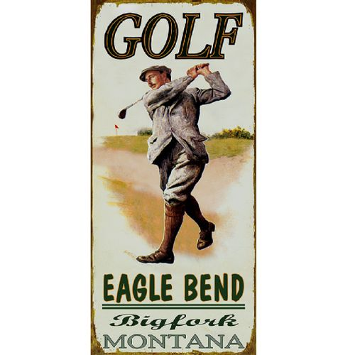 Golf Course (Male) Wood or Metal Personalized Sign