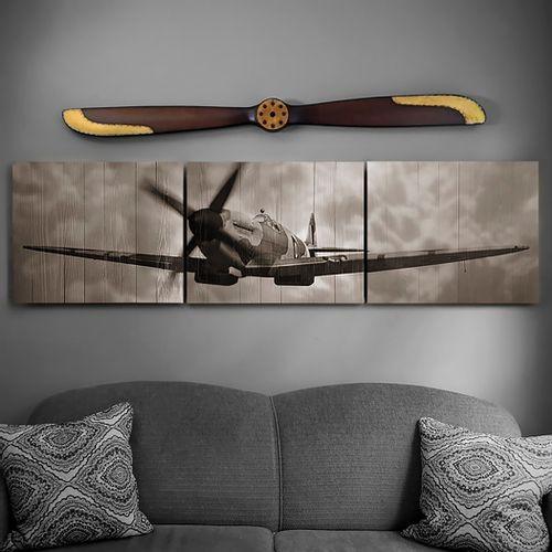 Spitfire Wood Triptych