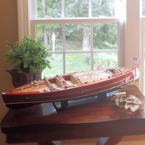 Typhoon Wood Vintage Speedboat Model