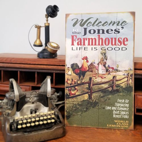Welcome to the Farmhouse Personalized Sign