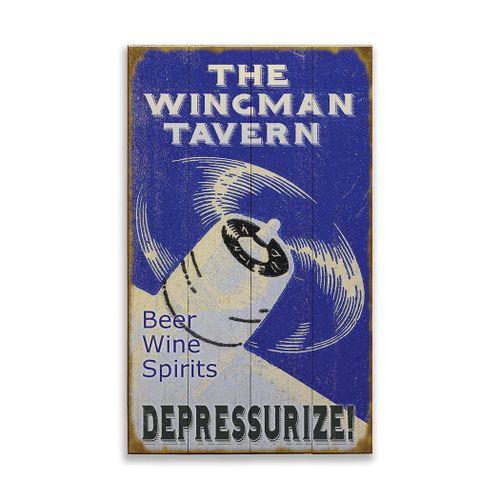 Depressurize Aviation Personalized Bar Sign