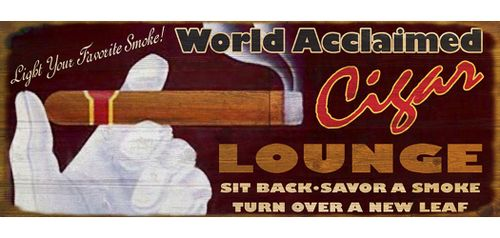 Cigar Lounge Personalized Bar Sign