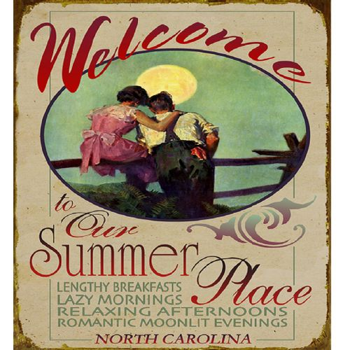 Welcome to Our Summer Place Wood or Metal Personalized Sign