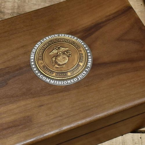 Personalized Marine Commemorative Keepsake Box