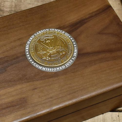 Army Commemorative Keepsake Box with Brass Medallion