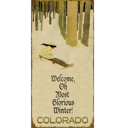 Welcome Glorious Winter Personalized Sign