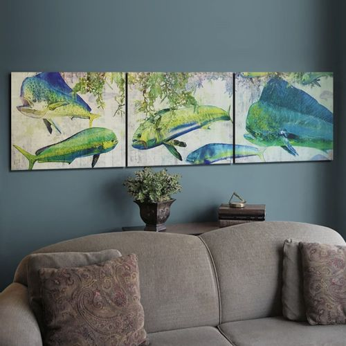 Mahi Dolphin Wood Triptych