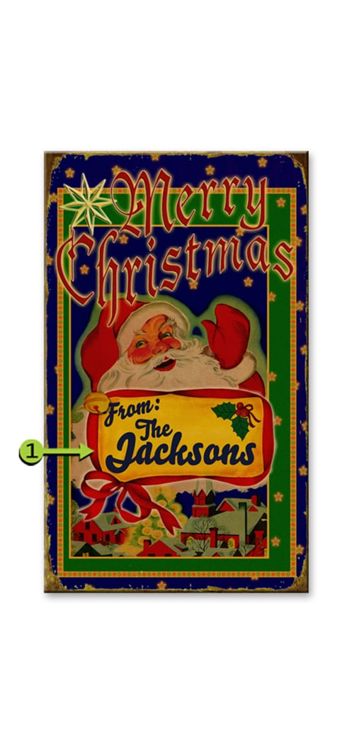 Merry Christmas Santa Personalized Sign