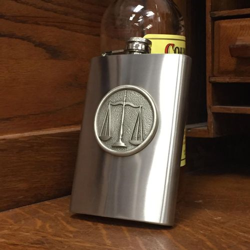 Scales Of Justice Stainless Steel Flask