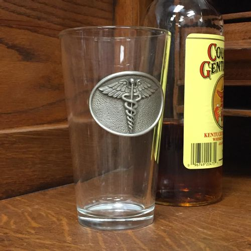 Medical Caduceus Pint Glass