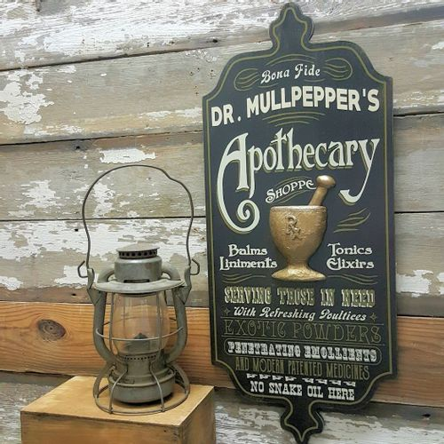 Apothecary Shoppe Personalized Sign