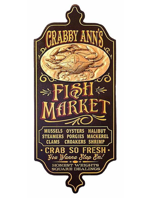 Fish Market Personalized Sign