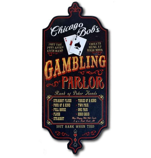 Gambling Parlor Personalized Sign