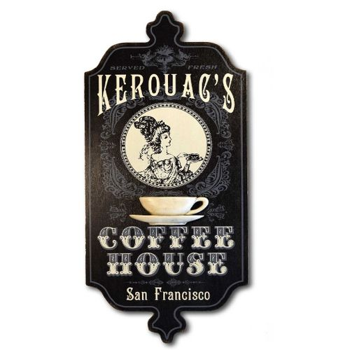 Vintage Style Coffee House Personalized Sign