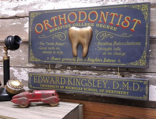 Orthodontist Wood Plank Sign with Optional Personalization