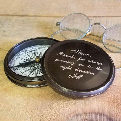 Personalized Groomsman Compass