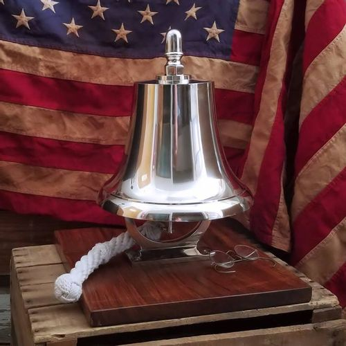 Large Memorial Fire Bell on Base - Second