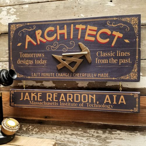 Architect Wood Sign with Optional Personalization
