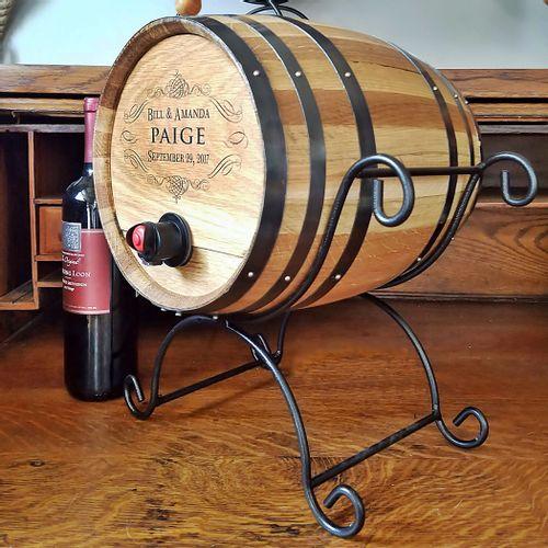 Personalized Wine Dispenser Barrel