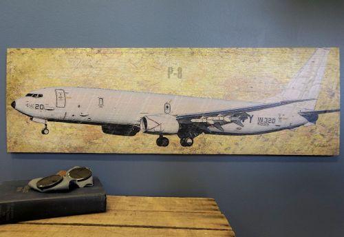 Poseidon P-8 Airplane Wood Plank Sign
