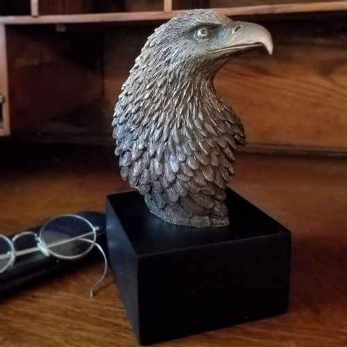 Eagle Head On Base - Bronzed