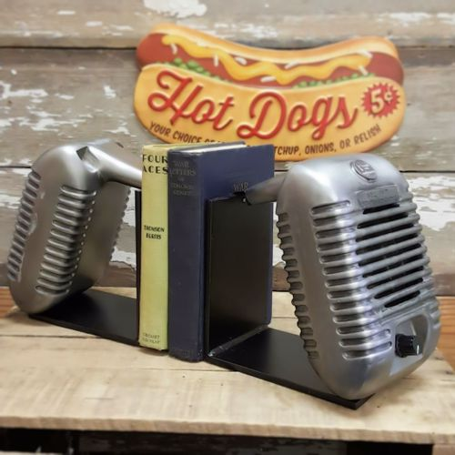 Bel Air Drive-In Movie Speaker Bookends Set