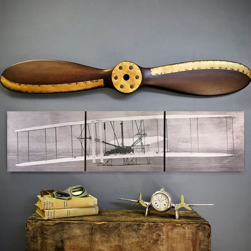 Wright Flyer Triptych with 40in Propeller Set