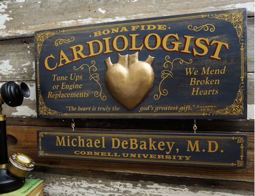 Cardiologist Profession Sign with Optional Personalization