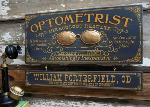 Optometrist Wood Sign with Optional Personalization