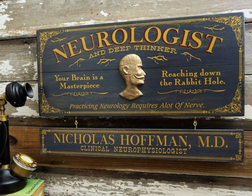 Neurologist Profession Wood Sign with Optional Personalization