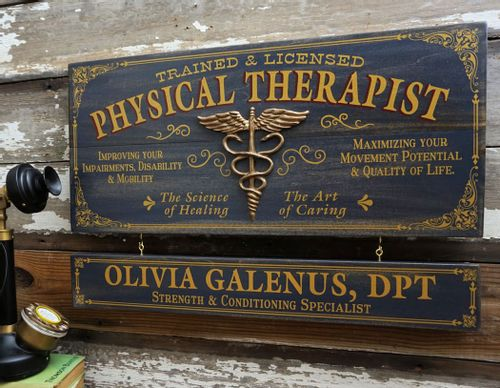 Physical Therapist Wood Sign with Optional Personalization