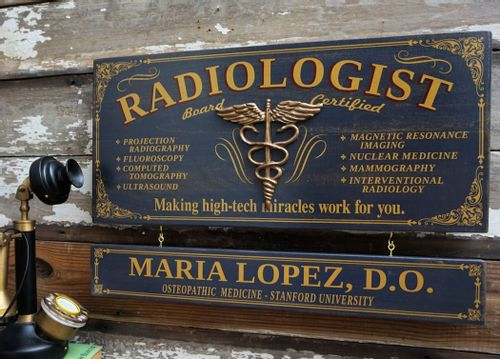 Radiologist Wood Sign with Optional Personalization