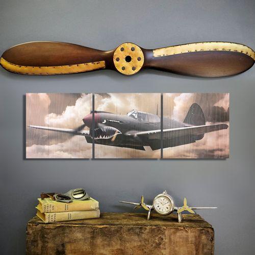 P-40 Warhawk Triptych and Propeller Set