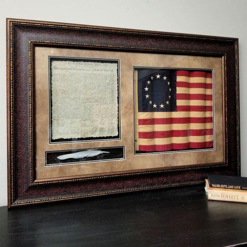 Framed Declaration of Independence Tribute Shadowbox