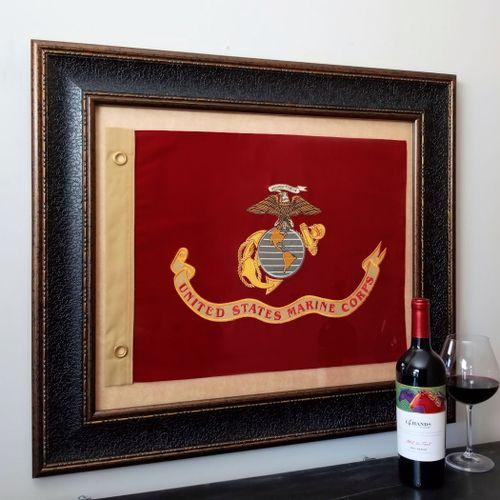 U.S. Marine Flag Framed