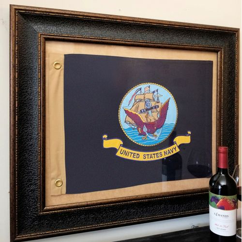 U.S. Navy Flag Framed