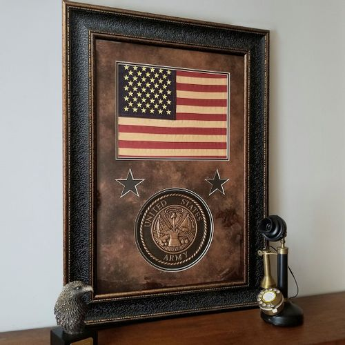 American Flag with U.S. Army Seal