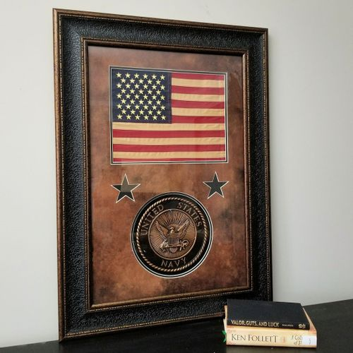 American Flag with U.S. Navy Seal