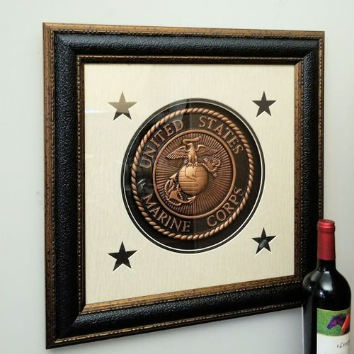 Seal of the U.S. Marines Framed
