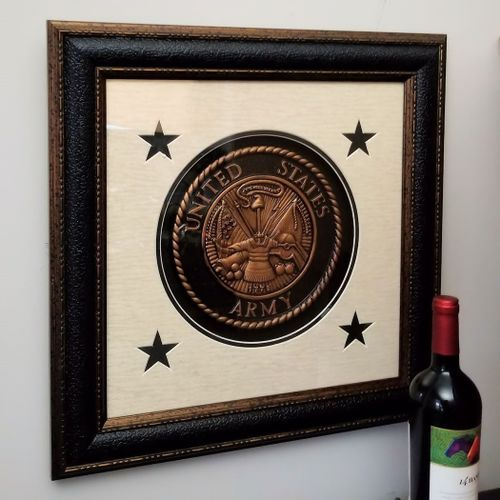 Seal of the U.S. Army Framed