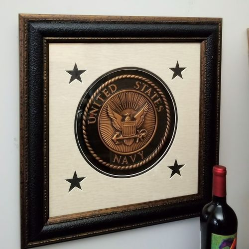 Seal of the U.S. Navy Framed