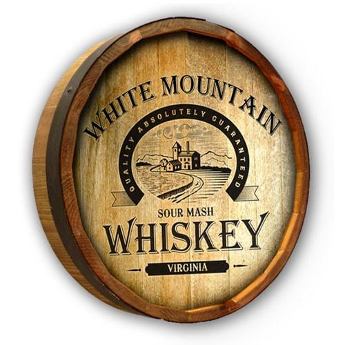 Sour Mash Whiskey Personalized Quarter Barrel Sign