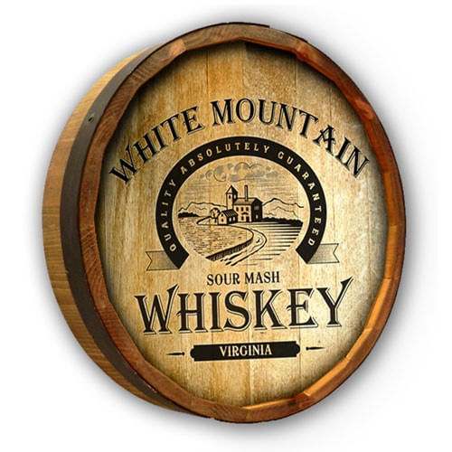 Sour Mash Whiskey Personalized Quarter Barrel Sign