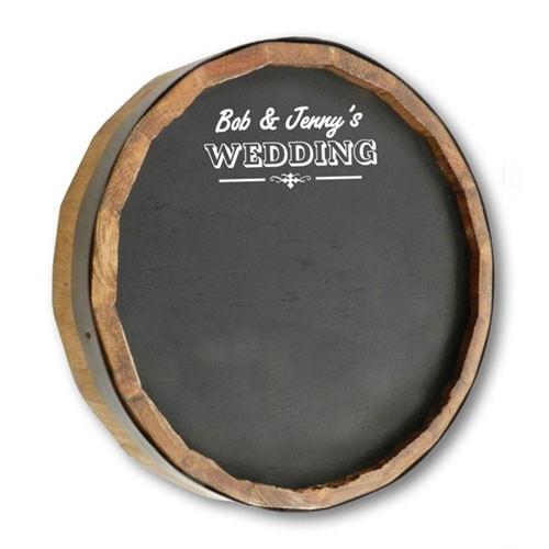 Wedding Chalkboard Personalized Barrel Sign